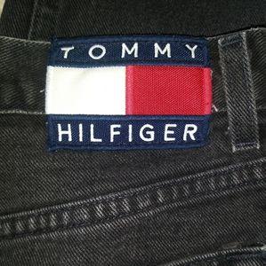 Vintage Black Tommy Hilfiger Big Logo Lady's Jeans